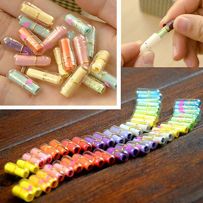 50pcs Transparent Heart Shape Multi-Color Love Message Letter Capsule Pills Gift