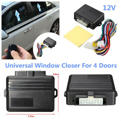 12V 4-Door Car Automatic Window Closer Alarm Systems/&Security Power Roll-Up Tool