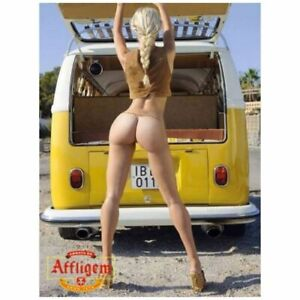 Yellow-Volkswagen-Bottoms-Girl-Gift-Photo-Fridge-Magnet-Size-2-5-034-x-3-5-034
