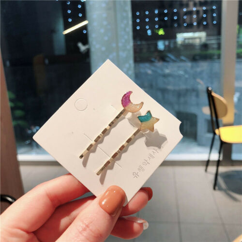 Women Colorful Star Moon Cat Planet Hair Clip Korean Hairpin Clip Accessories