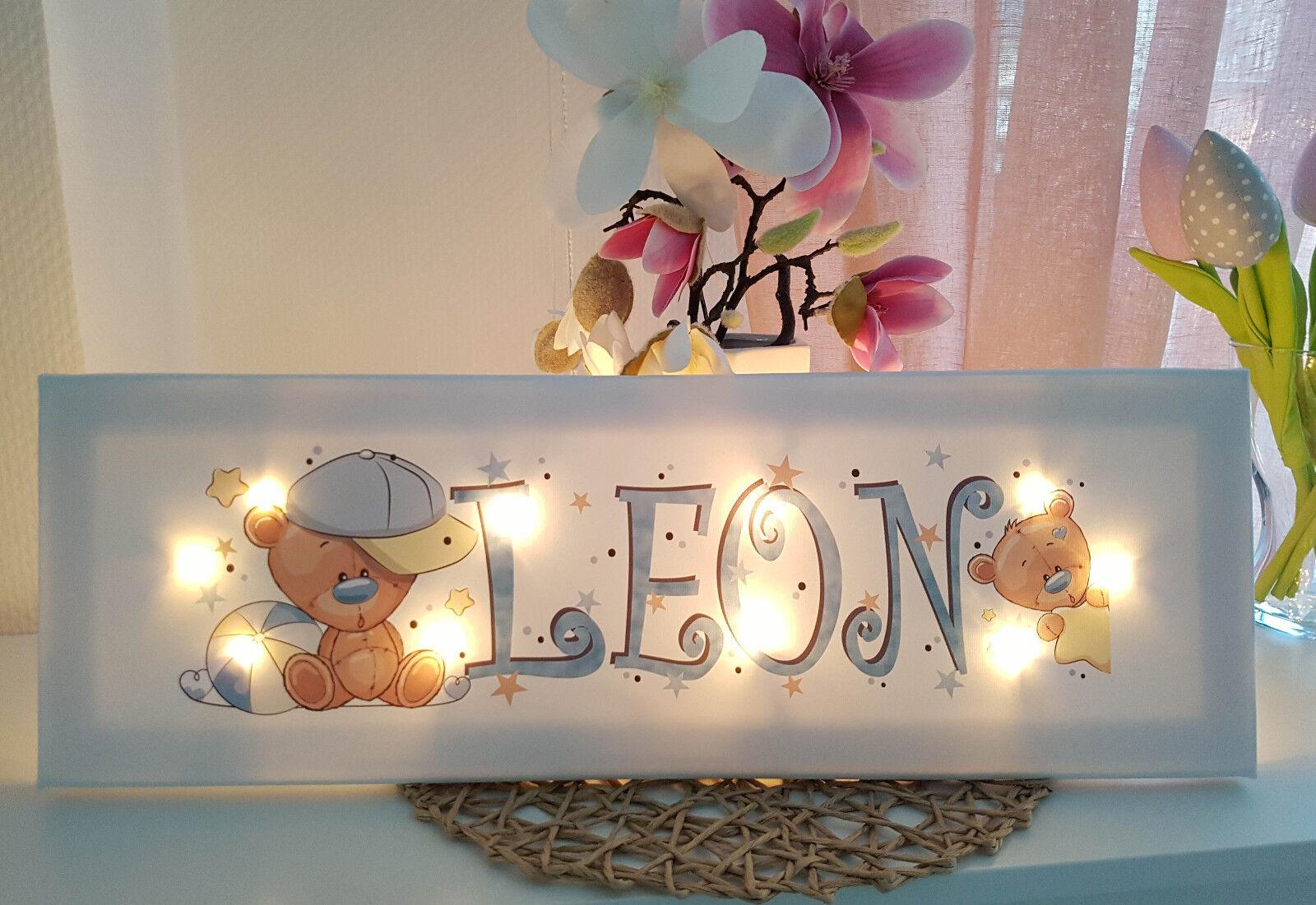 Rilassante Rilassante Rilassante luce con nome Teddy Lampada Muro Lampada Regalo Baby-stanza dei bambini 4f6988