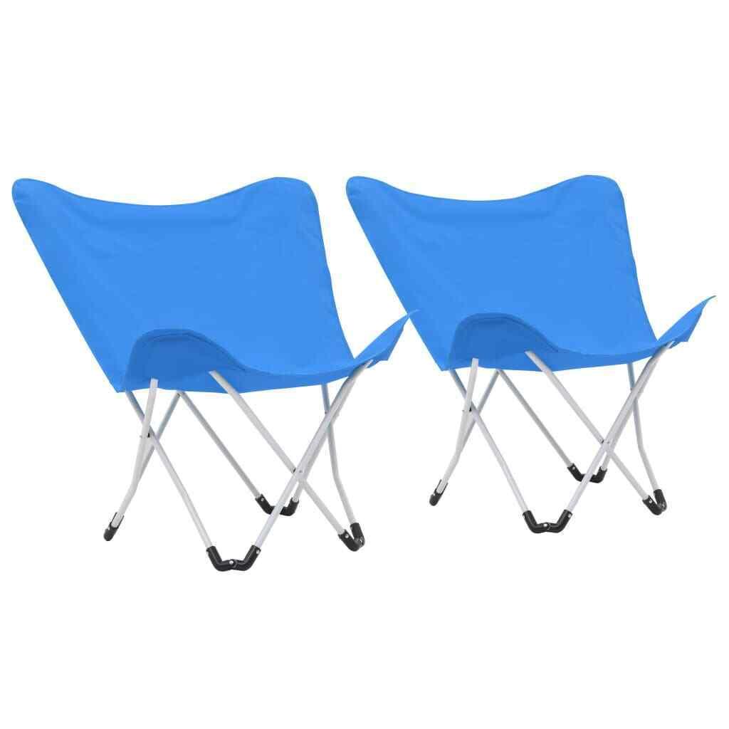 VidaXL 2x ButterFliegen Camping Stühle faltbar Blau Living Room Möbel Sitz