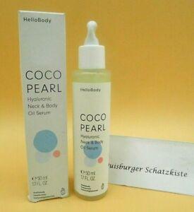 HelloBody Coco Pearl Hyaluron Neck & Body Oil Serum Körperöl 50ml