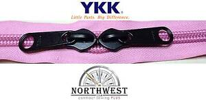 YKK Nylon Coil Zipper Tape # 8-5 continuous yards Rose Pink made in USA