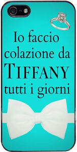 Cover Per Iphone 5 E 5s Con Stampa Io Faccio Colazione Da Tiffany