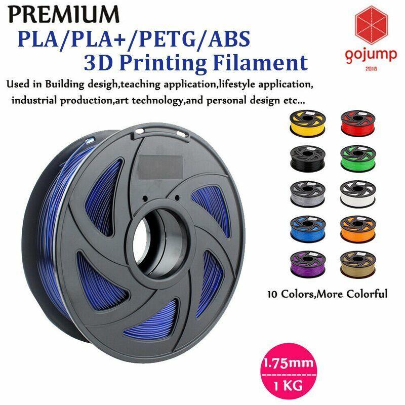1.75mm 3D Printer Filament PLA/ PETG/ABS Accuracy +/- 0.02mm 2.2 LBS (1KG) Spool