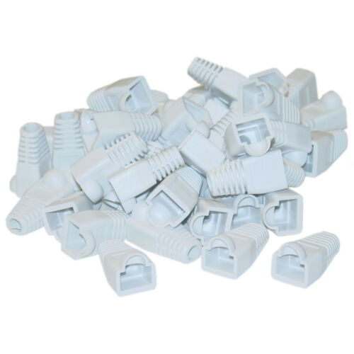 AVU-RJ45 Cat5e//Cat6//Cat6a Ethernet Cable Strain Relief Boots 50pk-Choose Color