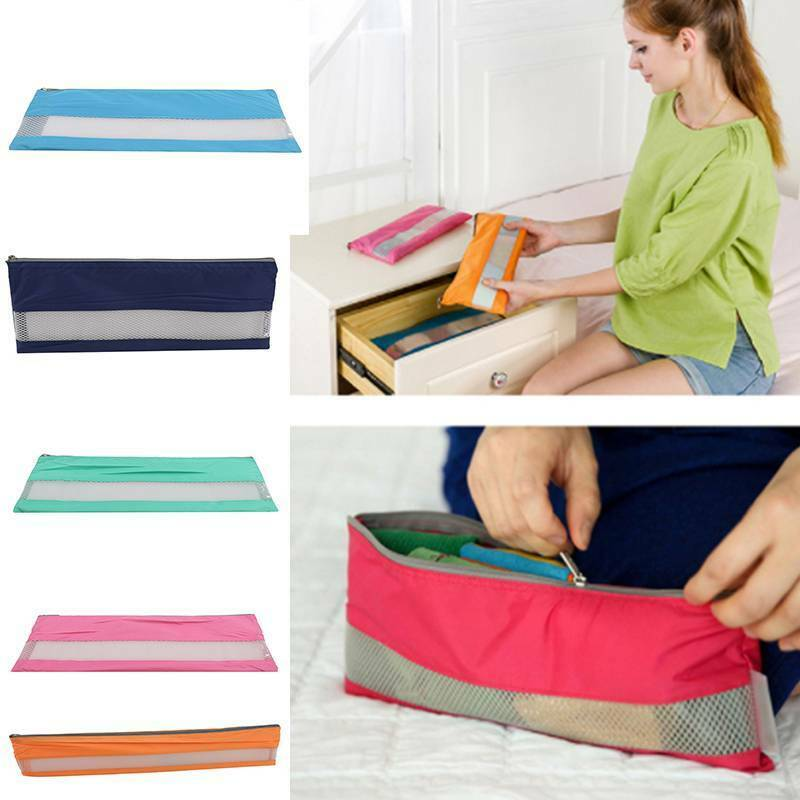 Portable Pouch Cosmetic Toilet Wash Purse Zipper Small Makeup Bag Case WA