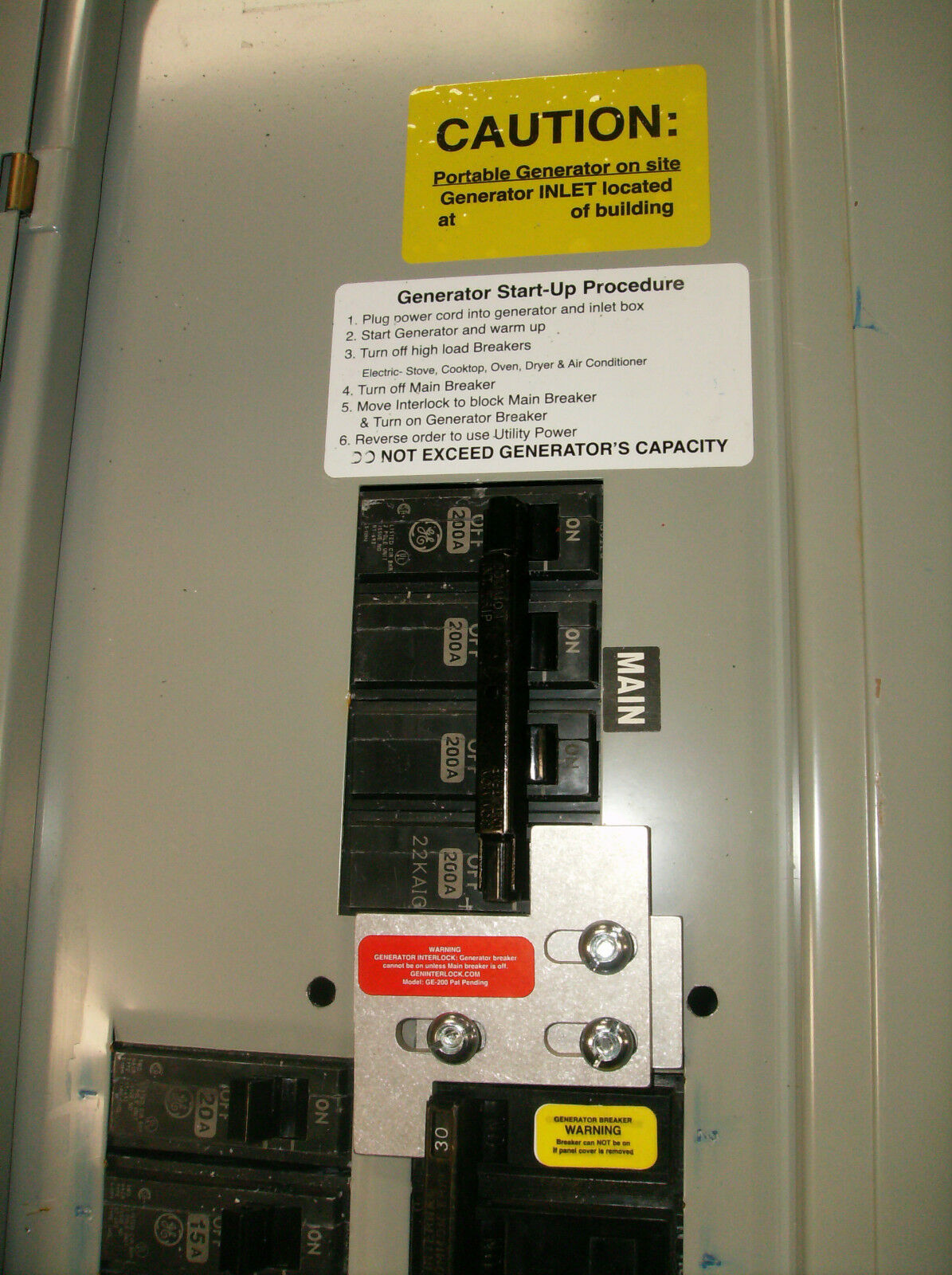 Ge 200a General Electric Generator Interlock Kit 150 Or 200 Amp Installation With A Pb30 Inlet On Cutler Hammer Main Circuit Breaker Norton Secured Powered By Verisign