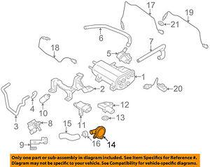 Details about VOLVO OEM 07-16 S80-Vapor Canister Purge Valve 8653857