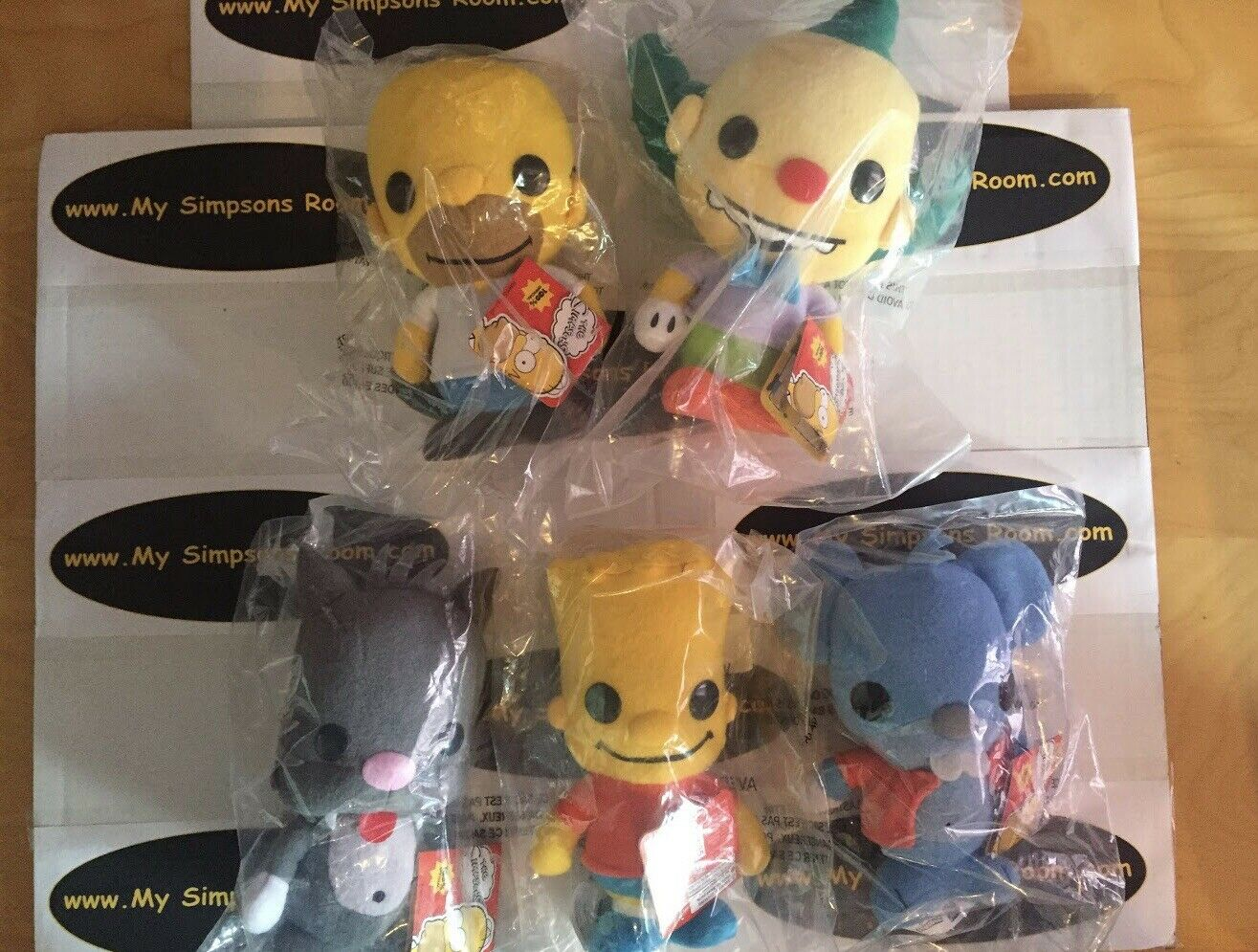 Set of 5 - The Simpsons Funko Plushies - Bart Bart Bart Homer Krusty Scratchy Itchy 7  NWT 2b8761