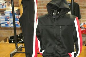 Big-and-Tall-Men-039-s-Fashion-Track-Set-Jogging-Suit-Jacket-amp-Pants-Red-Black
