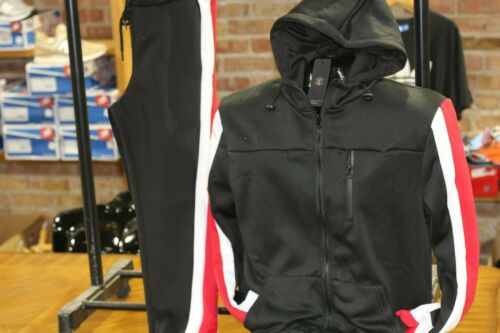 Black, Big and Tall Men/'s Fashion Track Set Jogging Suit Jacket /& Pants Red