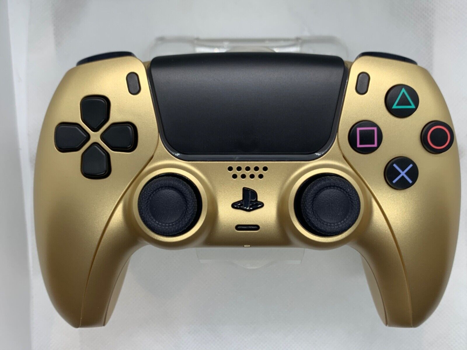 Sony PlayStation 5 PS5 DualSense Wireless Custom Gold Retro Controller