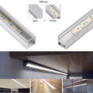 Details About Aluminium Channel With Cover Pvc Profile Extrusion For Led Strip Light 5050 3528