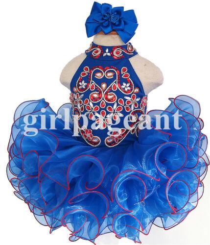 SUPERBE Bébé//Bambin//Bébé//fille perles Pageant robe G284D