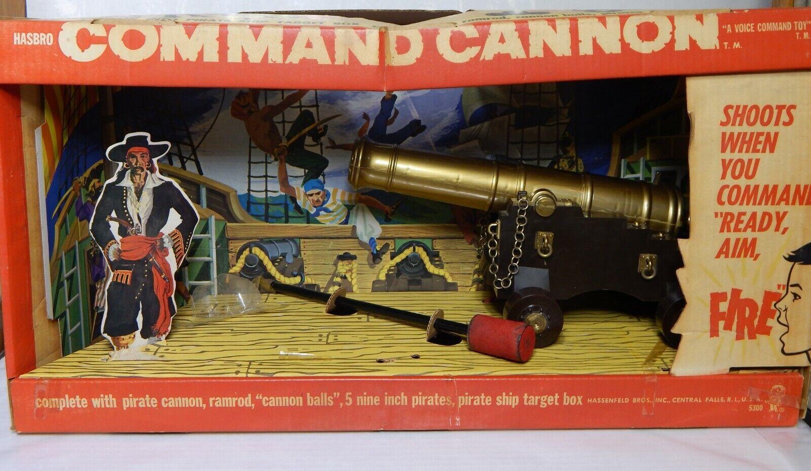 Rara Vintage Hasbro comando cañón Pirata Conjunto de Juego 1960s Completo Juguete Antiguo