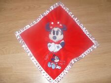 Disney Store Red MINNIE MOUSE Sugar & Spice Comfort Blanket/Comforter