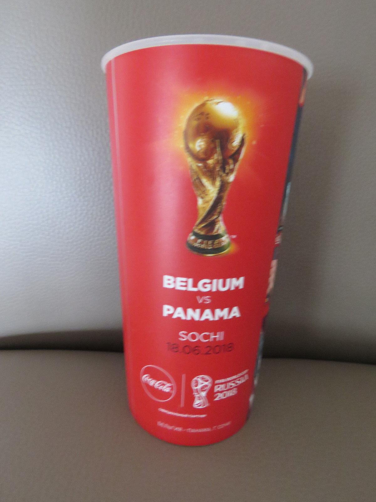Gobelet Gobelet Gobelet du match Beer Cup 2018 FIFA World Cup Belgium Panama Diables Rouges ee182e