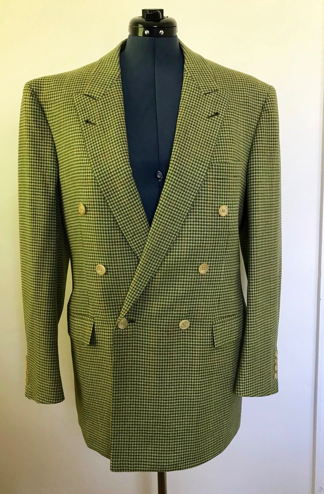 Men's Hand TailoROT Custom Made 100% Cashmere Double Breasted Sport Coat-Blazer