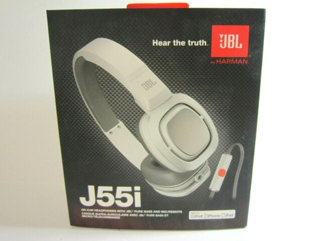 JBL J55i High Performance On-Ear Headphones with Microphone White