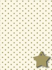 Con Estampado De Estrella De Oro De Papel De Regalo Pack Wrap Set 2 X Hojas Envoltorio De Regalo Y 2 X Etiquetas