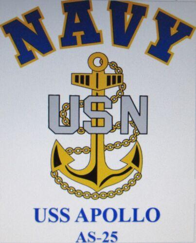 NAVY W// ANCHOR* SHIRT USS VESOLE  DD-878* DESTROYER