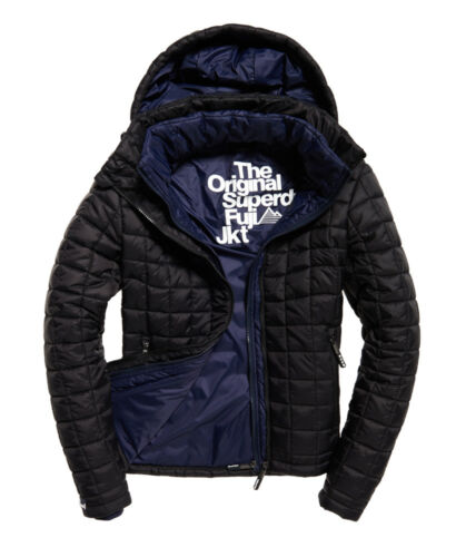 Mens Superdry Hooded Box Quilt Fuji  Jacket coat rrp £90
