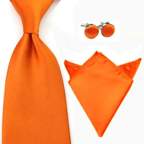 Herren 8CM Breite Krawatte Taschentuch Einstecktuch Manschettenknöpfe Set