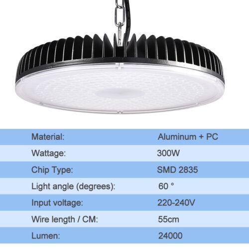 300W UFO LED High Bay Light Industrial Warehouse Factory Workshop Garage Lamp US
