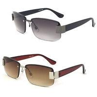 Semi Rimless Mens Sun Readers Reading Glasses Sunglasses Uv Protection 60mm Re57