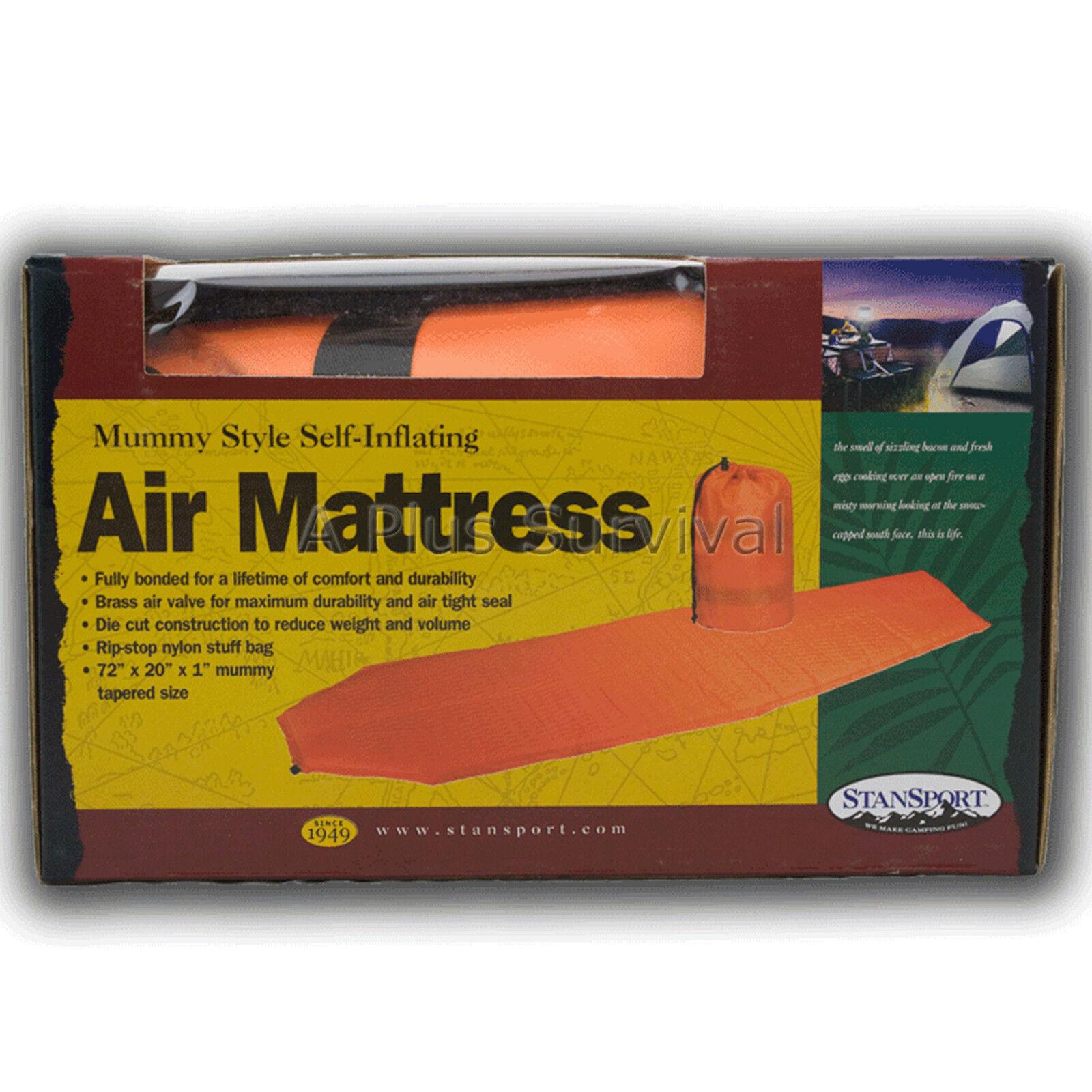 Self Inflating Camping Mattress Mummy Bag Sleeping Pad