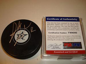 Alex Chiasson Signed Dallas Stars Hockey Puck Autographed PSA/DNA Go Stars a