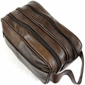 NEW-LORENZ-MENS-REAL-LEATHER-WASHBAG-TOILETRY-TRAVEL-KIT-OVERNIGHT-UNISEX-BAG