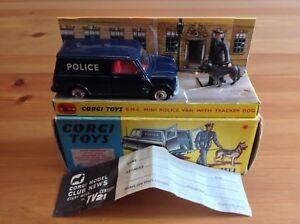 Corgi 448 Police Austin Morris Mini fourgonnette d'origine et en boîte