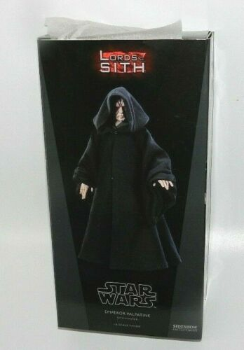 "SIDESHOW STAR WARS Empereur Palpatine neuf scellé Chargeur 12/"" Sith Master New GEM"
