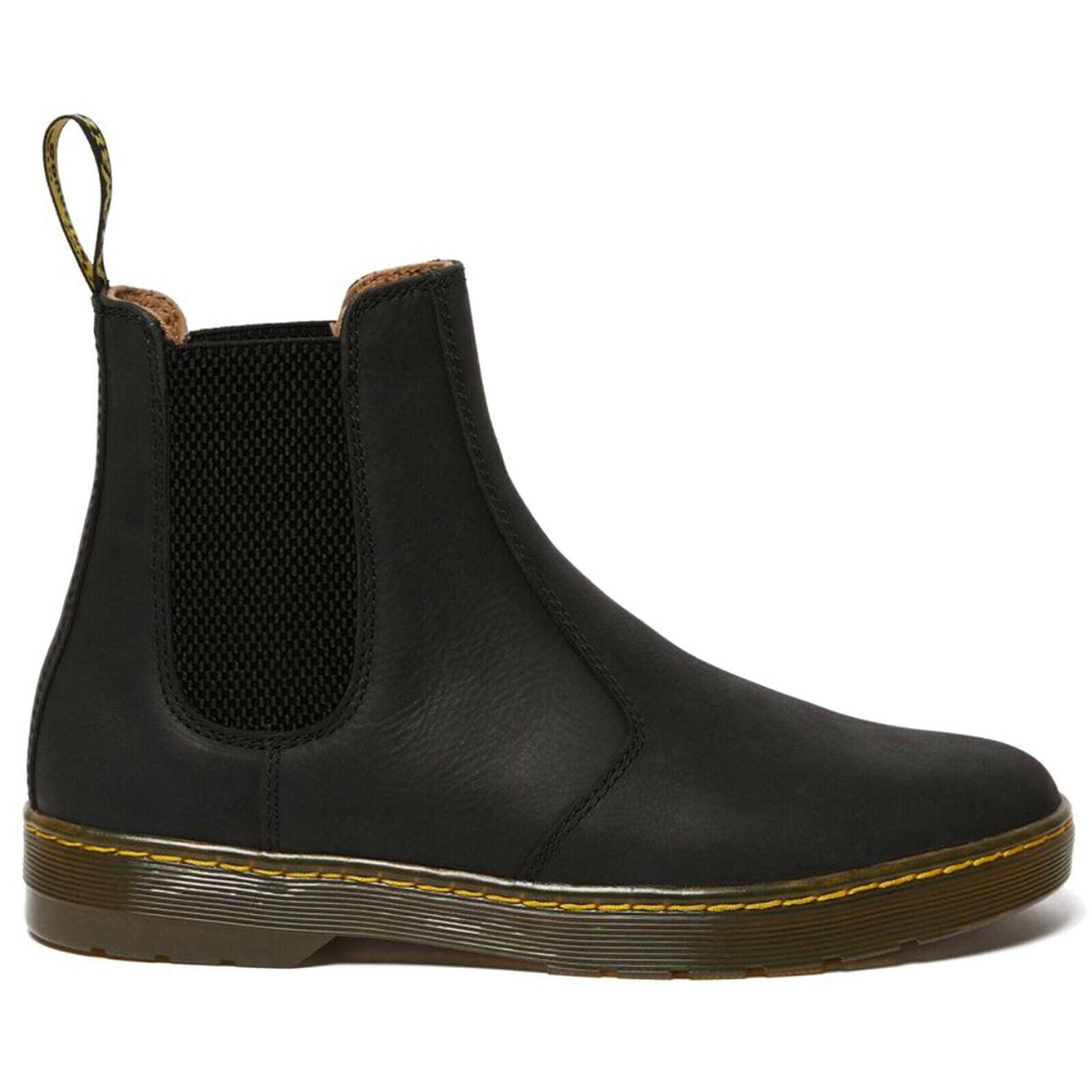 Dr. Martens Mens Boots Harrema Casual Pull-On Chelsea Ankle Leather Textile