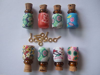5/10 Sets 0.5ml Small Tiny Glass Bottle Vial With Cork For Charms Pendants 13x19