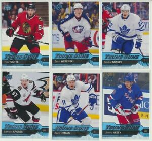 2016-17-Upper-Deck-Series-1-YOUNG-GUNS-Rookie-U-Pick-COMPLETE-YOUR-SETS