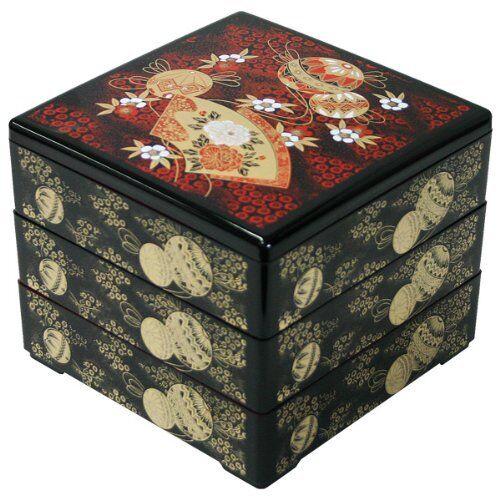 Ya08619 traditionnelle japonaise jyubako Bento Box Pour Picnic//Fête du japon nouveau!