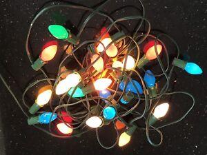 C7 Christmas Lights.Details About Rare Vintage Gilbert C7 Christmas Light Set Strand And Set Of 5 Bulbs Included