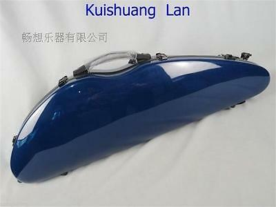 1pcs Rare model fiberglass blue colorl coded lock violin case 4/4