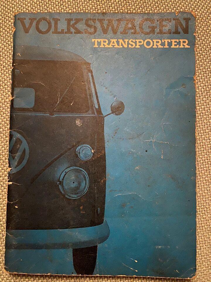Instruktionsbog, Volkswagen Transporter 1965