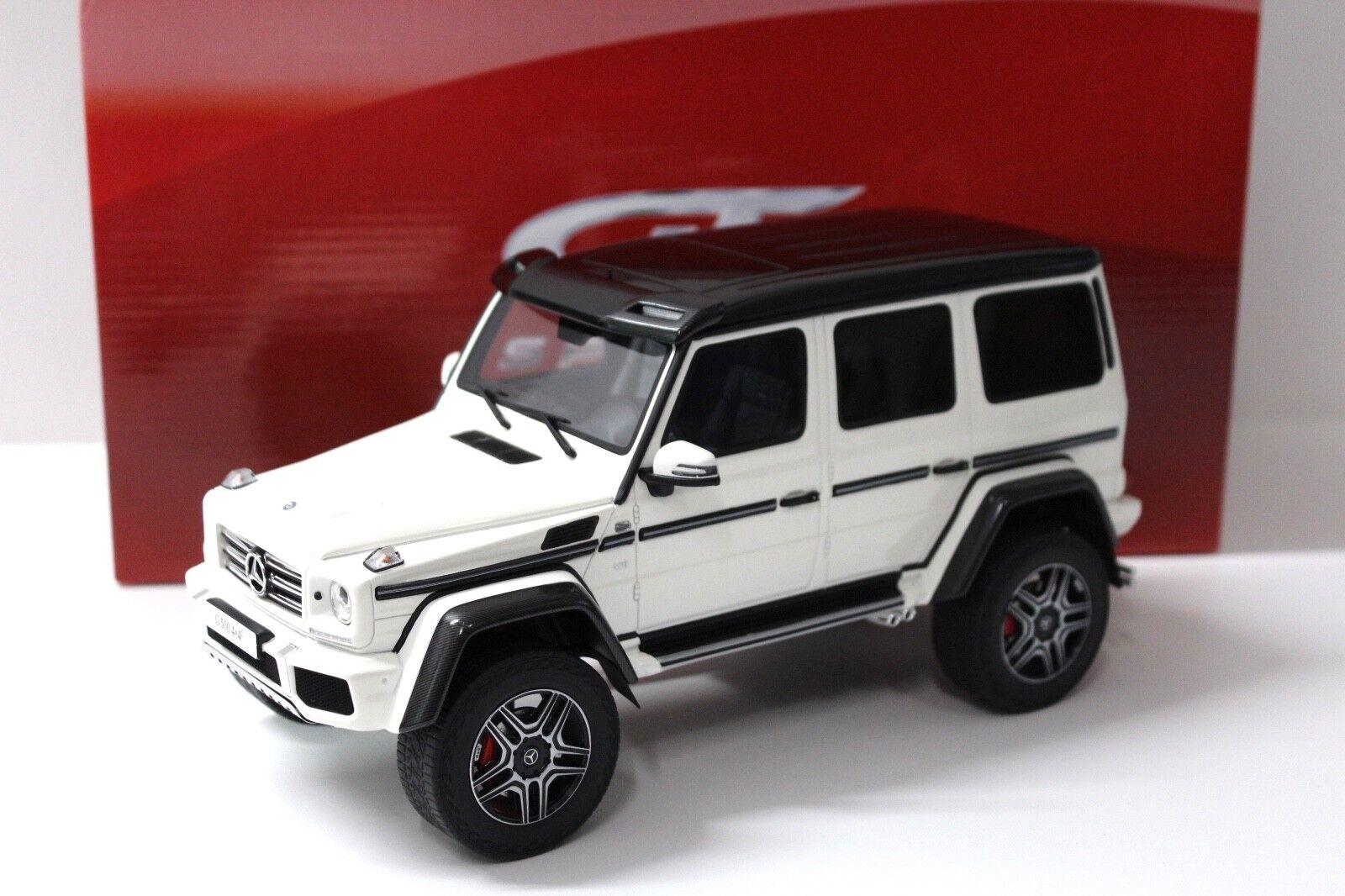 1 18 GT Spirit mercedes g500 G-Klasse 4x4² bianca New en Premium-modelcars