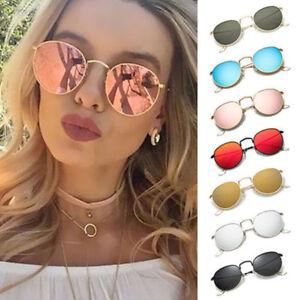 Fashion-Oversized-Round-Sunglasses-Men-Women-039-s-Vintage-Retro-Mirror-Glasses-HOT