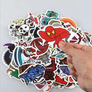 1Set 50pcs Skateboard Sticker Skate Graffiti Laptop Luggage Car Bomb Vinyl Decal