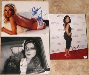 Olivia Munn Poppy Montgomery Berenice Bejo Signed 8x10 Photo PSA GA GAI GV COA!