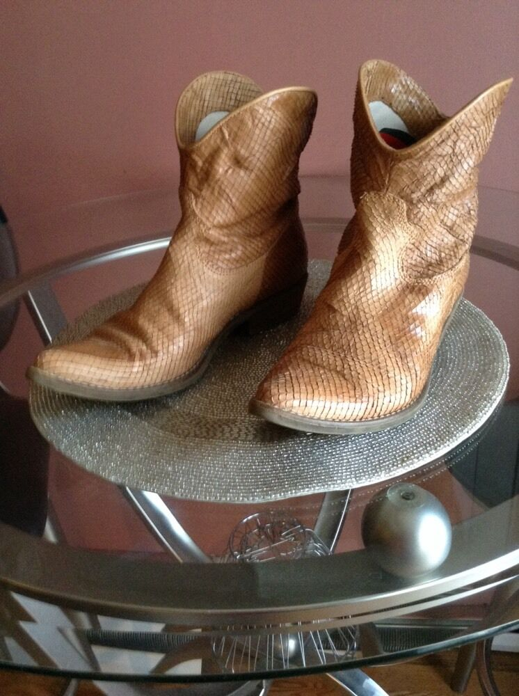 Donna Piu lizard  Ankle Boots, made in Italy,sz.7