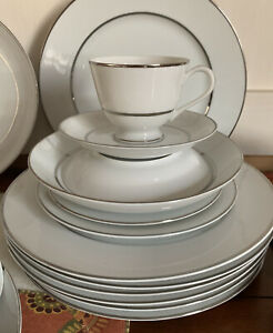 Vintage-87-Piece-Dinnerware-Set-Wentworth-Fine-China-Princess-3418-Japan