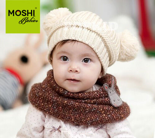 Baby Kids Childs Winter Knitted Bobble Woolen Hat by Moshi Babies